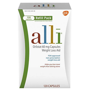 alli Weight Loss Aid, Orlistat 60mg Capsules 120ct