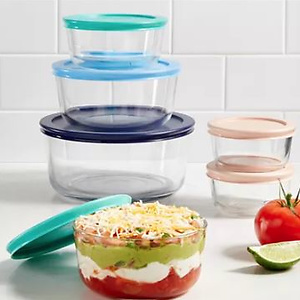 Pyrex 12-Piece Storage Set with Colored Lids
