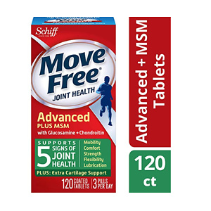 Move Free Glucosamine & Chondroiton Plus MSM Advanced Joint Health Supplement Tablets 120ct