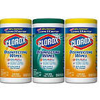 Clorox 消毒湿巾 75 Count Each (Pack of 3)