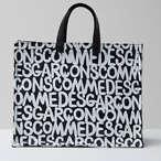 印花皮革手提包