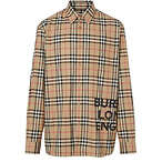 BURBERRY Vintage Check Print Cotton Shirt