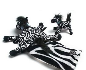 Kids.woot 今日特卖:Zoobies 迷你玩偶靠垫毯子三合一毛绒玩具