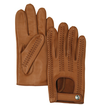 Mens Sheepskin Basket Weave Driving Gloves