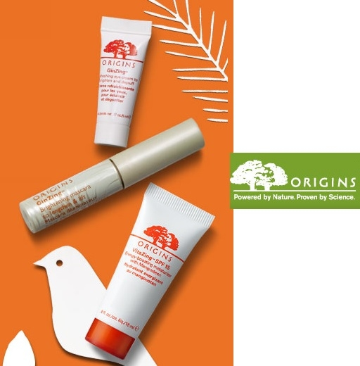 Origins: Free 1 Month Supply of Skincare Trio + Free Shipping with $40 Purchase
