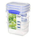 Sistema 1543 Klip It Collection Rectangle Food Storage Container, 13 Ounce (Set of 3) $2.99