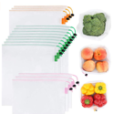GOGOODA 可重复使用生鲜农产品网状袋 15个