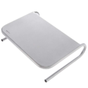 AmazonBasics Metal Monitor Stand - Silver $10.69