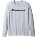 Champion 男士全棉长袖T恤 $14.98