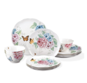 Lenox 12 Piece Butterfly Meadow Hydrangea Set, White - 849407