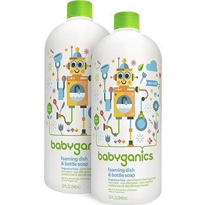 Amazon: Babyganics Foaming Dish and Bottle Soap Refill, Citrus, 32oz Bottle (Pack of 2)