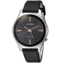 Citizen Women's 'Eco-Drive' Quartz Stainless Steel and Leather Dress Watch, Color:Black (Model: EM0591-01E) $112.99,FREE Shipping