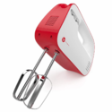 Vremi 3-Speed Compact Hand Mixer with Clever Built-In Beater Storage - Handheld Egg Beater with Stainless Steel Blades