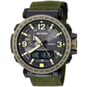 Casio Men's 'PRO TREK' Quartz Resin and Cloth Casual Watch, Color:Green (Model: PRG-600YB-3CR) $195.75,free shipping