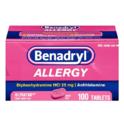 Benadryl 抗过敏药 25mg,100粒