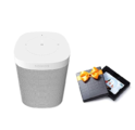 Sonos One (Gen 2) - Voice Controlled Smart Speaker with Amazon Alexa Built-in - White with $50 Amazon.com Gift Card