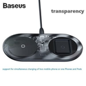 Baseus 15W 2合1 无线充电器