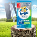 Amazon: Snuggle Plus Super Fresh Fabric Softener Dryer Sheets with Static Control and Odor Eliminating Technology, 105 Count