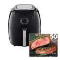 GoWISE USA 3.7-Quarts Air Fryer (Black (Dial)) + 50 Recipes for your Air Fryer $45.00,free shipping