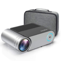 """Mini Projector, Vamvo L4200 Portable Video Projector, Full HD 1080P 200"""" Display Supported; Outdoor Movie Projector 3800 Lux with 50,000 Hrs $104.99"""