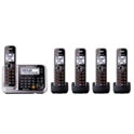 Panasonic Bluetooth Cordless Phone KX-TG7875S Link2Cell with Enhanced Noise Reduction & Digital Answering Machine - 5 Handsets (Black/Silver) $85.00,free shipping