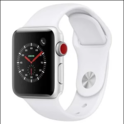 Apple Watch Series 3 (GPS + Cellular, 38mm) - Silver Aluminium Case with White Sport Band $199.00
