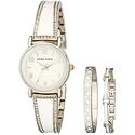Anne Klein Women's Swarovski Crystal Watch Set