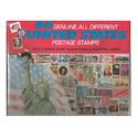 80 Genuine Postage Stamps Assortment
