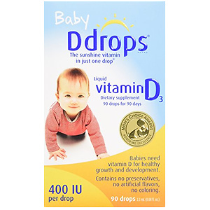 Ddrops 婴儿维生素D3滴剂 400IU