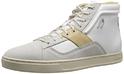 Diesel Men's Primmstal E-Prime Mid Fashion Sneaker, Silver Birch/White, 7 M US