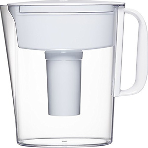 Brita 5 Cup Metro Water Pitcher with 1 Filter, BPA Free, White