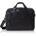 Tumi Alpha 2 Organizer Leather Brief, Black, One Size