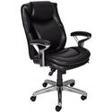 Serta 44103 Air Health and Wellness Mid-Back Office Chair, Black