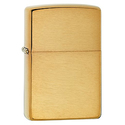 Zippo Lighter Solid brass with brushed finish