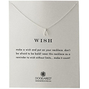 "Dogeared ""Reminder"" Wishbone Silver Chain Necklace, 16"""