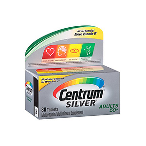 Centrum Silver Adult (80 Count) Multivitamin Tablet Age 50+