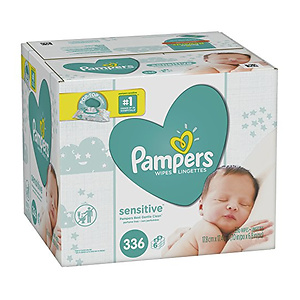 Pampers Baby Wipes Sensitive 6X Pop-Top Packs 336 Count