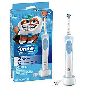 Oral-B 儿童电动牙刷,配有敏感刷头和定时器,适合3岁+儿童