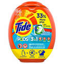 96-Count Tide Pods Liquid Laundry Detergent Pacs (Multiple Flavors)