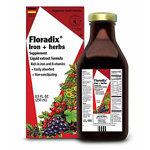 Floradix Liquid Iron Supplement + Herbs 17 Oz Large
