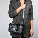 Gucci Small Leather Marmont Matelassé 26cm 小号单肩包