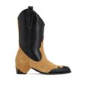 MANU ATELIER 45毫米麂皮&皮革牛仔靴