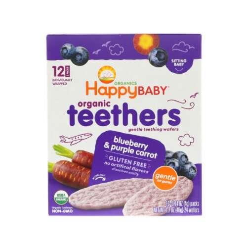 有机咀嚼饼 蓝莓和紫胡萝卜
