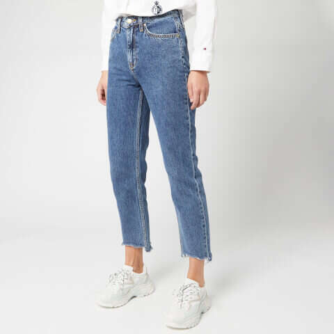 女士直筒牛仔裤