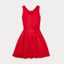 Ralph Lauren 拉夫劳伦 Crossback Cotton Satin Dress 大童背后交叉缎面连衣裙
