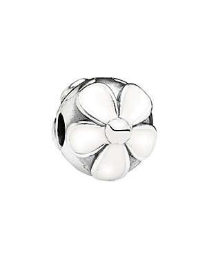 Silver Enamel Clip Charm