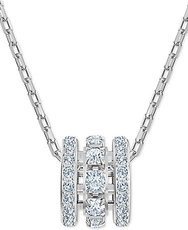 Silver-Tone Crystal 项链