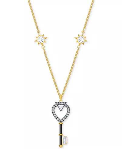 Gold-Tone Crystal Key 项链