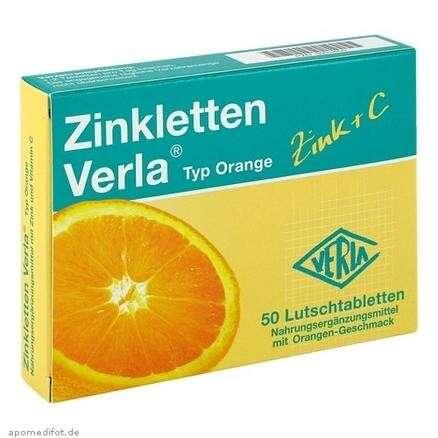 Zinkletten Verla 补锌+维生素C 橙味咀嚼片