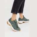 Skechers 橄榄绿运动鞋